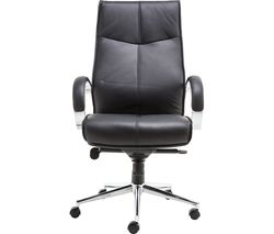 ALPHASON Verona AOC1019BLK Leather Tilting Executive Chair - Black