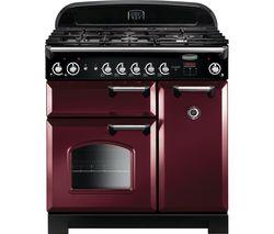 RANGEMASTER Classic 90 Gas Range Cooker - Cranberry & Chrome