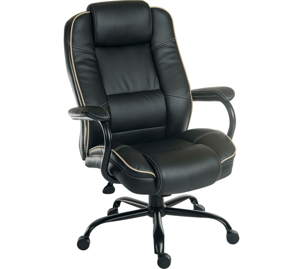 Buy Teknik Goliath Duo Bonded Leather Reclining Executive Chair Black Free Delivery Currys