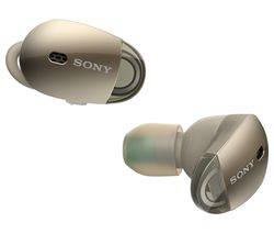 SONY WF1000X Wireless Bluetooth Noise-Cancelling Headphones - Gold