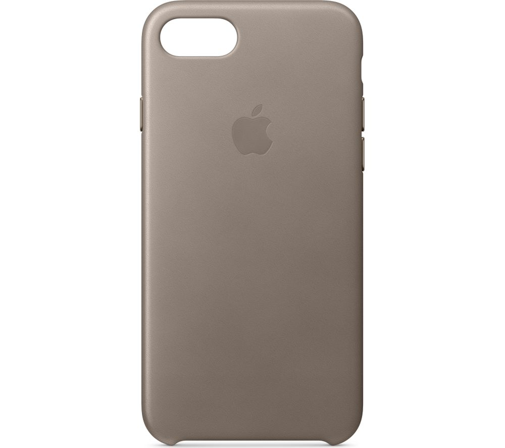 APPLE iPhone 8 & 7 Leather Case - Taupe, Taupe cheapest retail price