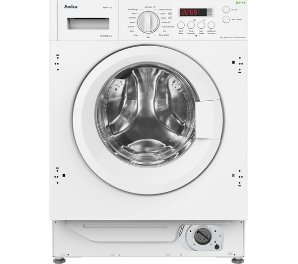 Image of AMICA AWT714S Integrated 7 kg 1400 Spin Washing Machine