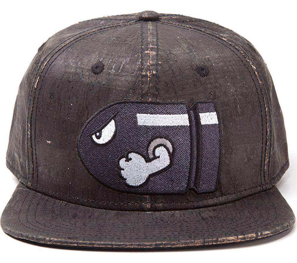 MARIO Bullet Bill Snapback Cap - Grey, Grey