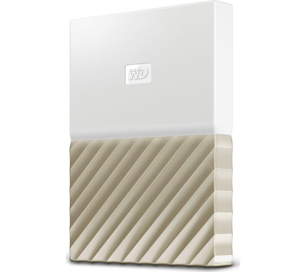 Image of WD My Passport Ultra Portable Hard Drive - 2 TB, White & Gold, White