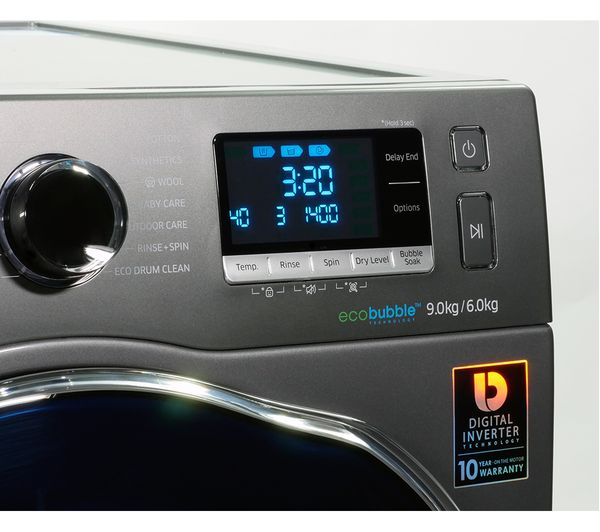 Buy Samsung Ecobubble Wd90j6a10ax 9 Kg Washer Dryer