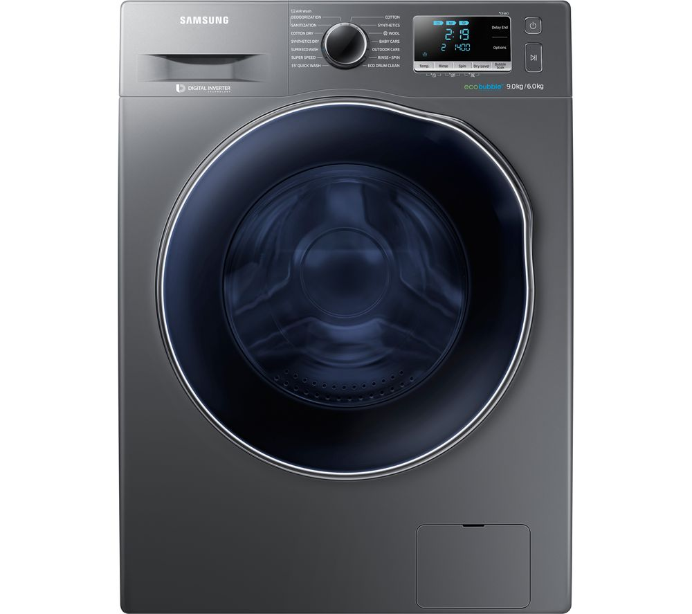 Buy SAMSUNG ecobubble WD90J6A10AX 9 kg Washer Dryer - Graphite ... 86b0ee76c5