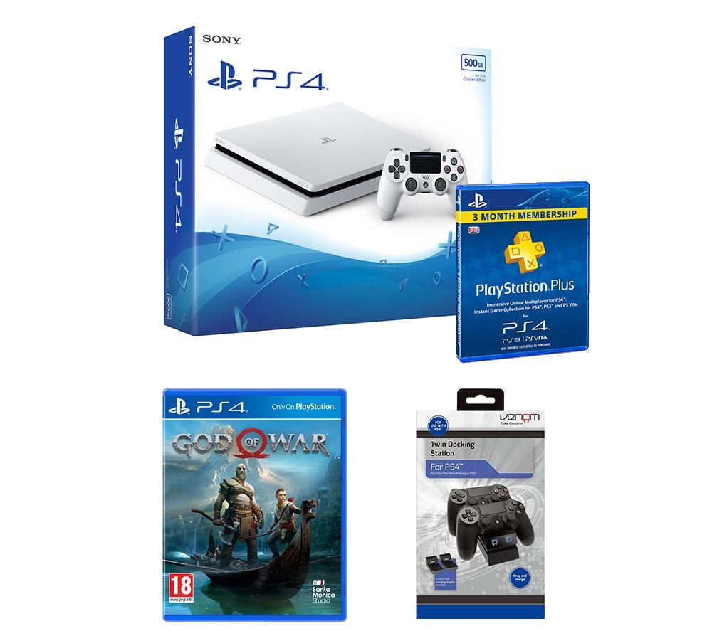PlayStation 4 Slim, God Of War & Accessories Bundle, Red