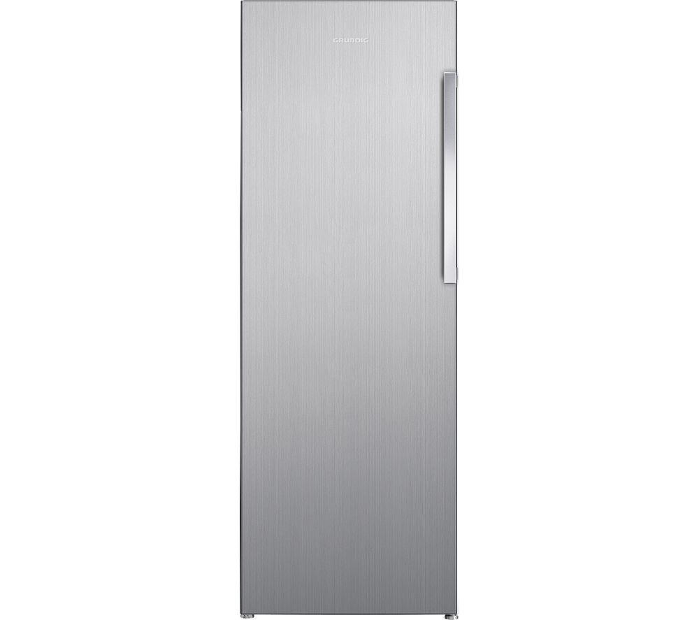 GRUNDIG GFN1671N Tall Freezer - Brushed Steel