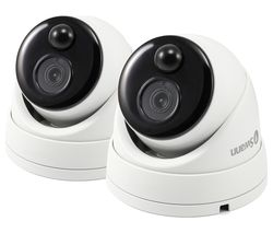 SWANN PRO-1080MSD Thermal Sensing Dome Security Camera - Twin Pack