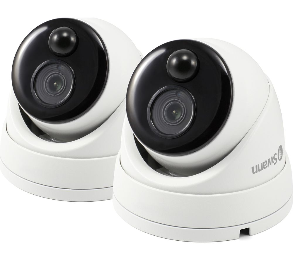 SWANN SWPRO-1080MSDPK2-UK Thermal Sensing Dome Security Camera - Twin Pack