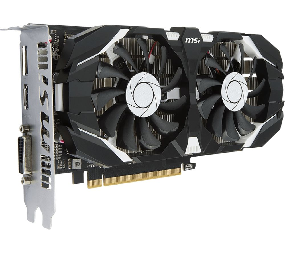 MSI GeForce GTX 1050 Ti 4 GB GT OC Graphics Card