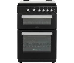 BELLING FSG608Dc 60 cm Dual Fuel Cooker - Black