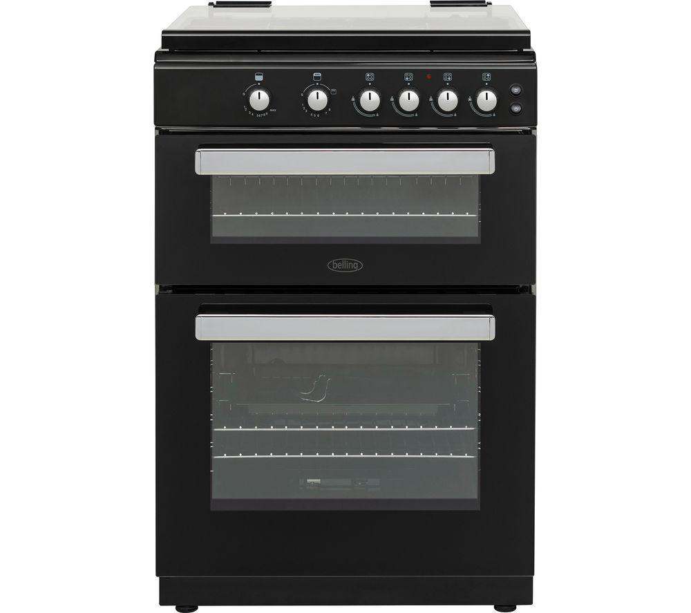 buy belling fsg608dc 60 cm dual fuel cooker black free. Black Bedroom Furniture Sets. Home Design Ideas