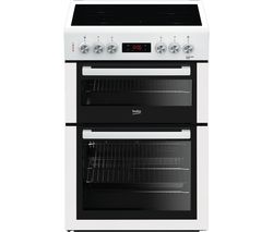 BEKO XTC653W 60 cm Electric Ceramic Cooker - White Best Price, Cheapest Prices