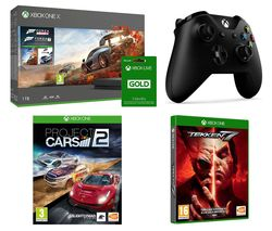 MICROSOFT Xbox One X, Forza Horizon 4, Forza Motorsport 7, Tekken 7, Project Cars 2, Xbox LIVE Gold & Wireless Controller Bundle