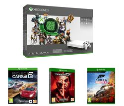 MICROSOFT Xbox One X, 3-Month Game Pass, Live Gold Membership, Tekken 7, Project Cars 2 & Forza Horizon 4 Bundle - 1 TB