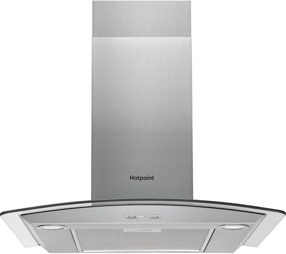 HOTPOINT PHGC6.4 FLMX Chimney Cooker Hood - Silver