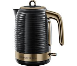 Inspire Luxe 24365 Traditional Kettle - Black & Brass