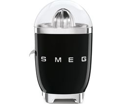 SMEG 50's Retro Style CJF01BLUK Citrus Juicer - Black Best Price, Cheapest Prices