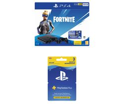 SONY PlayStation 4 with Fortnite Neo Versa & PlayStation Plus 3 Month Subscription Bundle