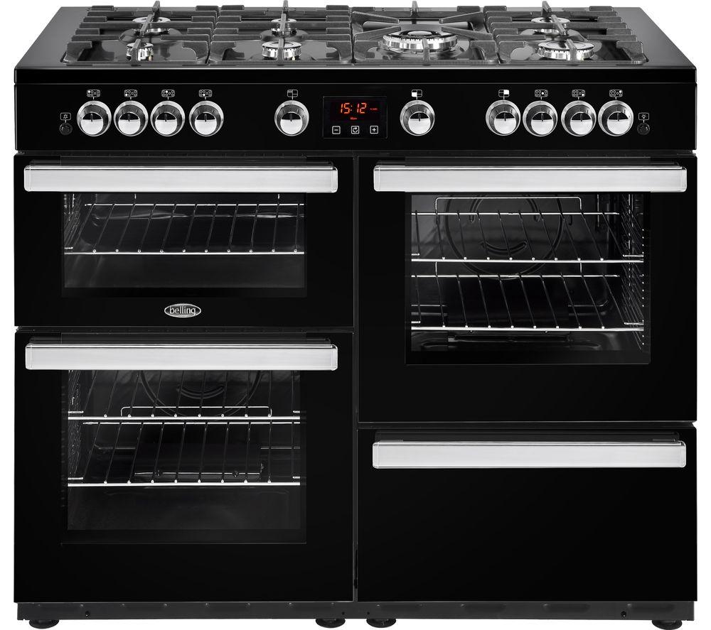 BELLING Cookcentre 110G Gas Range Cooker - Black