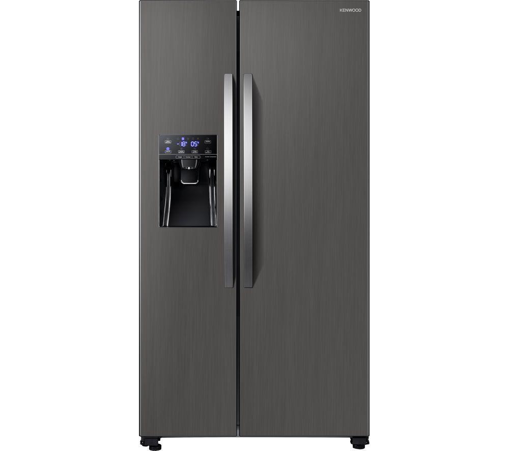 KENWOOD KSBSDIX20 American-Style Fridge Freezer - Inox