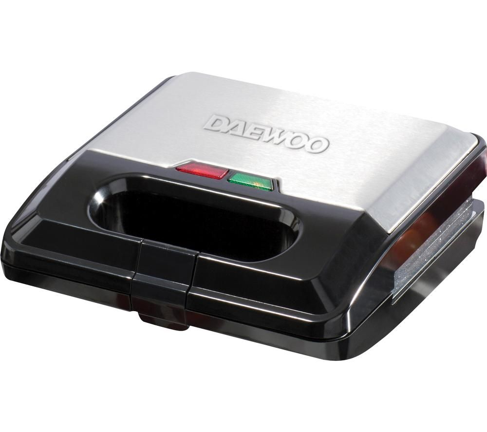 DAEWOO SDA1562 3-in-1 Sandwich Maker - Black & Silver