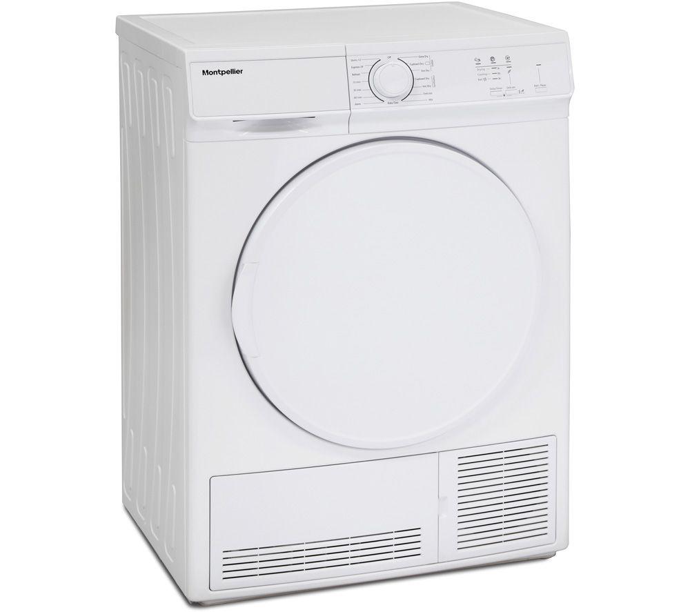 MONTPELLIER MCD7W 7 kg Condenser Tumble Dryer - White, White