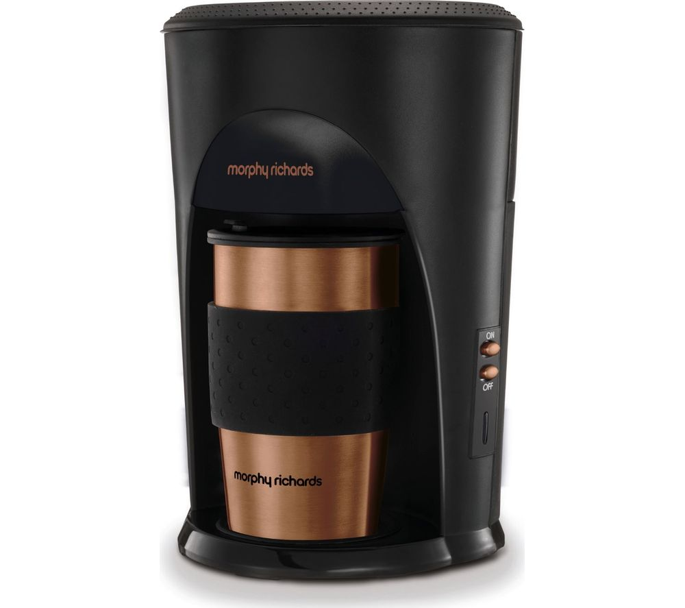 MORPHY RICHARDS Coffee on the Go 162743 Filter Coffee Machine - Black, Bronze & Brushed Steel, Black