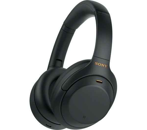 Image of SONY WH-1000XM4 Wireless Bluetooth Noise-Cancelling Headphones - Black