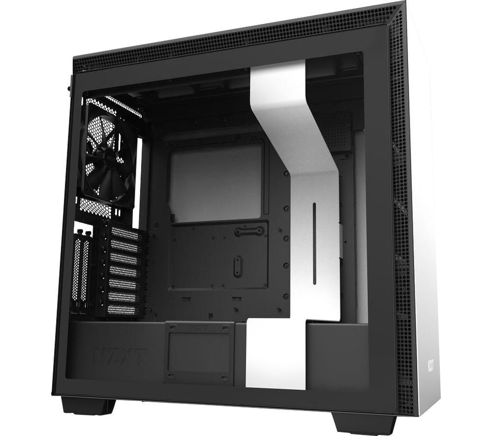 Image of NZXT H710i E-ATX Mid-Tower PC Case - White & Black, White