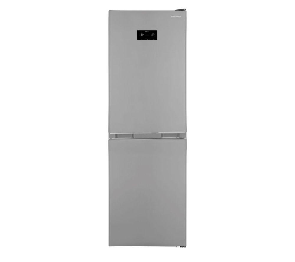 SHARP SJ-BA33DHXIE 50/50 Fridge Freezer – Stainless Steel, Stainless Steel