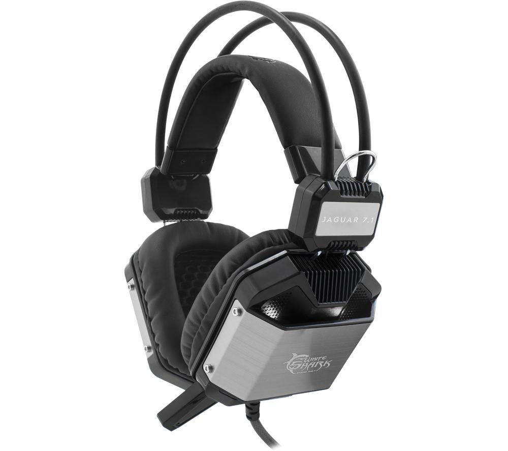 WHITE SHARK GH-1646 JAGUAR 7.1 Gaming Headset - Black & Silver, White