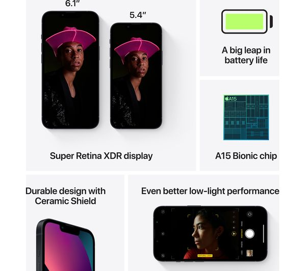 Apple iPhone 13 mini - 128 GB, Midnight 6
