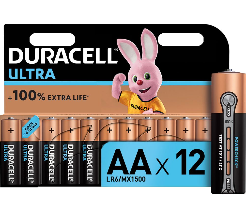 DURACELL Ultra Power AA Alkaline Batteries - Pack of 12