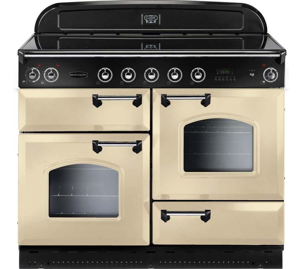 RANGEMASTER Classic 110 Electric Induction Range Cooker - Cream & Chrome