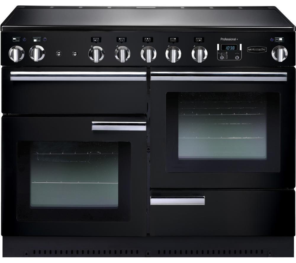 RANGEMASTER Professional+ 110 Electric Induction Range Cooker - Black & Chrome