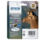 EPSON Stag T1306 Cyan, Magenta & Yellow Ink Cartridges - Multipack