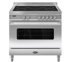 BRITANNIA Delphi 90 Single Electric Induction Range Cooker - Stainless Steel