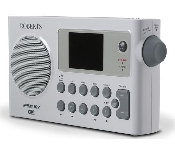 buy roberts stream 107 portable dab fm smart radio. Black Bedroom Furniture Sets. Home Design Ideas