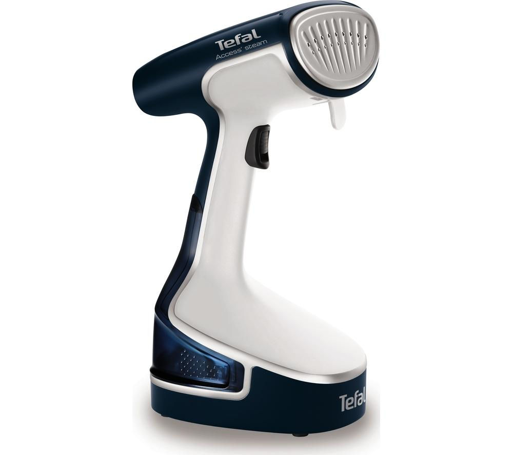 TEFAL Access Steam DR8085 Hand Steamer - Blue & White + Kettle & Iron Descaler
