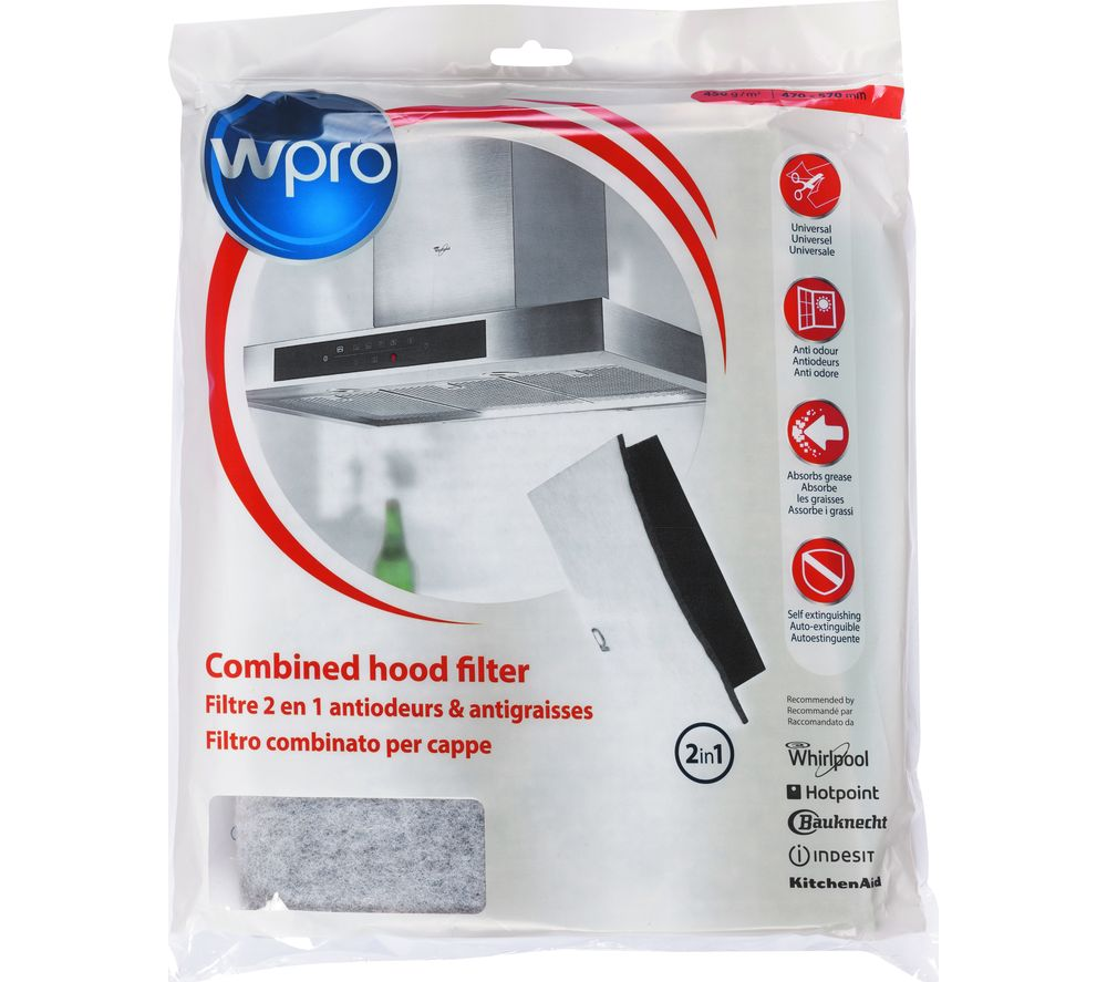 WPRO UCF016 Universal Grease & Carbon Filter - for Cooker Hoods