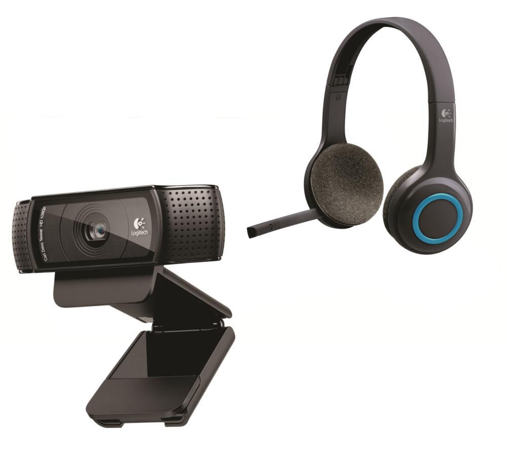 LOGITECH Wireless Headset & Full HD Webcam Bundle