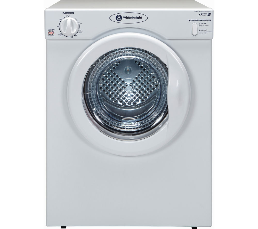 White Knight Tumble Dryer C38AW Vented  – White, White