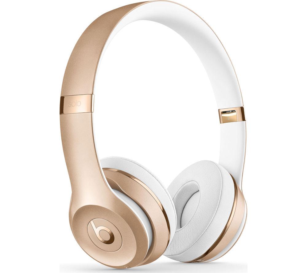 BEATS Solo 3 Wireless Bluetooth Headphones - Gold
