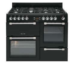 LEISURE Cookmaster CK100F232K Dual Fuel Range Cooker - Black Best Price, Cheapest Prices