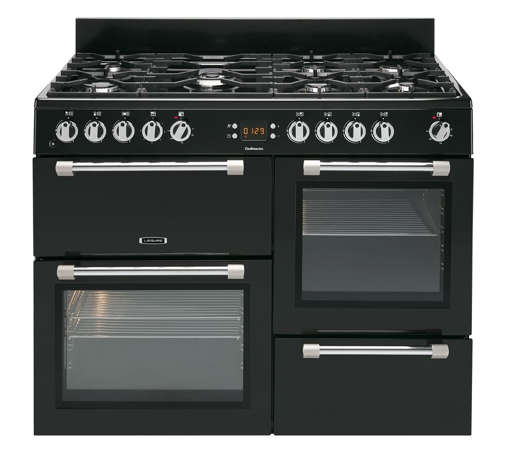 Image of LEISURE Cookmaster CK100F232K Dual Fuel Range Cooker - Black, Black