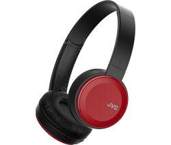 JVC HA-S30BT-R-E Wireless Bluetooth Headphones - Red