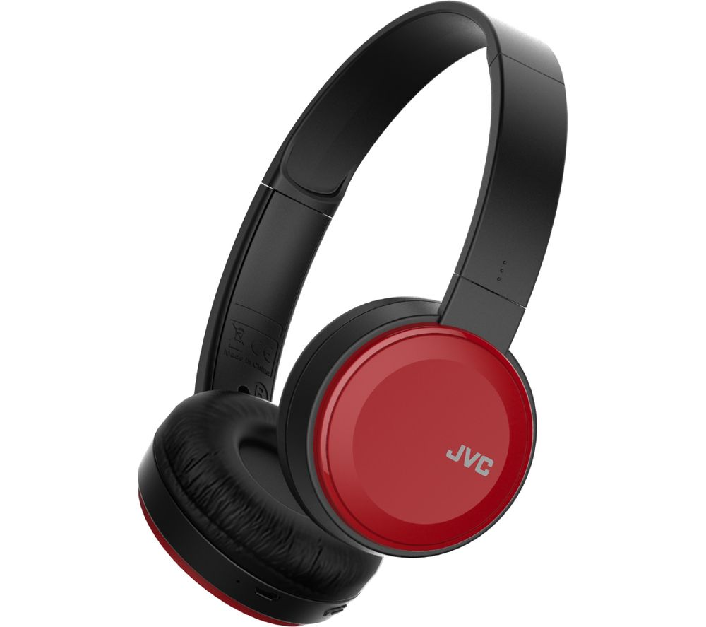 JVC HA-S30BT-R-E Wireless Bluetooth Headphones - Red
