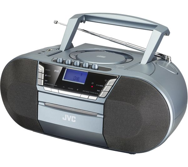 Image of JVC RC-D327B DAB/FM Bluetooth Boombox - Grey